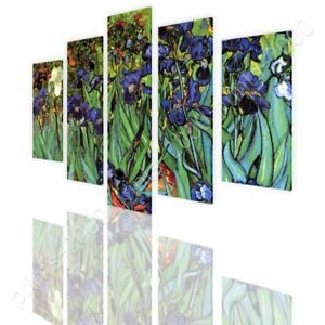 Irises-by-Vincent-Van-Gogh-Ready-to-hang-canvas-5-Panels-Wall-art-artwork