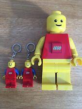 LEGO Uomo Torcia. LUCI SHINE DA PIEDI. funzionante. Bambini Torcia & 2 Torcia Portachiavi