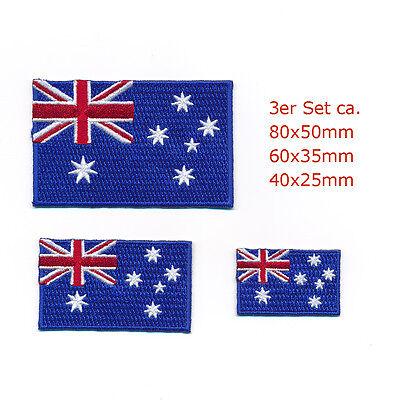 Herzhaft 3 Australien Canberra Sydney Melbourne Flags Patches Aufnäher Aufbügler Set 0968 Verhindern, Dass Haare Vergrau Werden Und Helfen, Den Teint Zu Erhalten