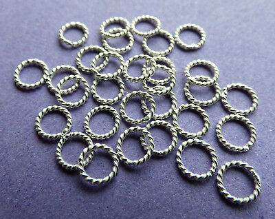 5mm 23 gauge 0.61mm 925 Sterling Silver Triangle Open Jump Rings Bail 12pcs.