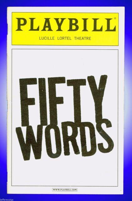 Playbill + Fifty Words + Elizabeth Marvel , Norbert Leo Butz + Off-Broadway