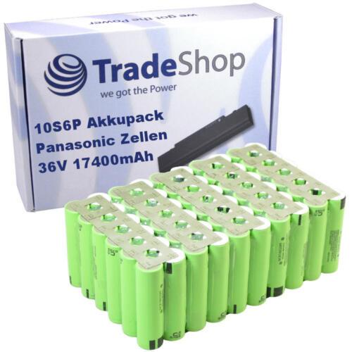 Li-ion 18650 Akkupack 10S6P 36V 17400mAh Panasonic NCR18650PF