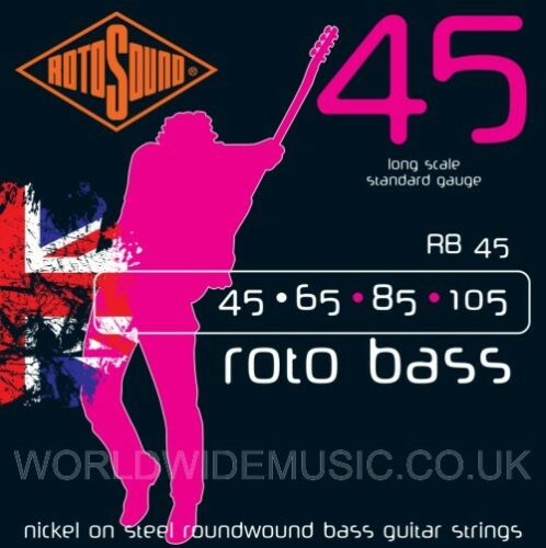with choice of gauge Rotosound ROTO BASS Long Scale Bass Guitar Strings