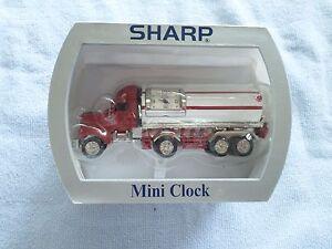 SHARP COLLECTIBLE MINI-CLOCK - MIB - TANKER TRUCK