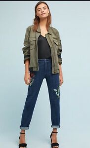 9bc7bdb602b9 Image is loading ANTHROPOLOGIE-Pilcro-Mid-Rise-Slim-Boyfriend-Jeans-size-