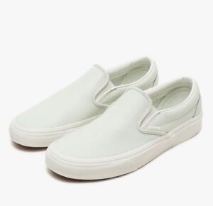 68c3f1297627 Vans CLASSIC SLIP ON Leather Zephyr Blue Men s Shoes 5.5 Womens 7