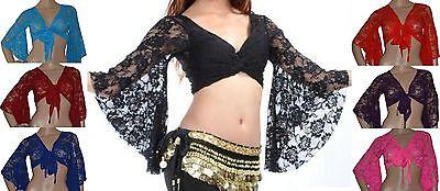 Nuova Moda Bolero La Danza Del Ventre Top Pizzo Tops Abbigliamento Danza Belly Dance Carnevale Danza-mostra Il Titolo Originale