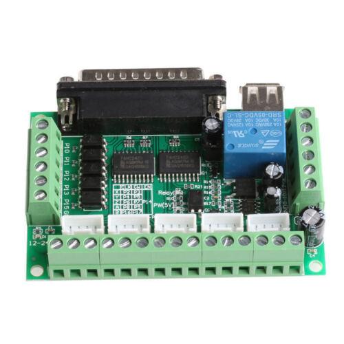 5 Axis CNC Breakout Board avec coupleur optique pour axes Pas à Pas Moteur Driver Mach 3 L140