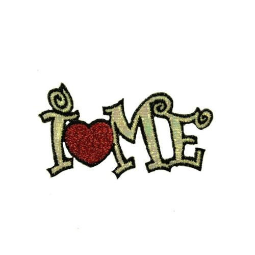 I Love Me Patch Heart Funny Confidence Respect Embroidered Iron On Applique