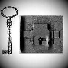 Einlaßschloß+Schlüssel Eisen rechts Dorn100 Möbelbeschläge Griffe Möbelschlösser
