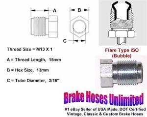 MALE-TUBE-NUT-M13-x-1-Bubble-Flare-3-16-034-Line