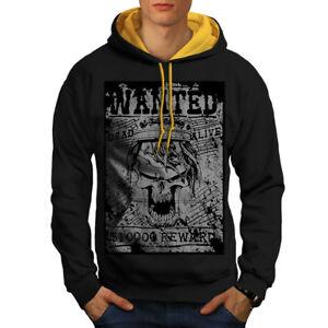 Contrast Hood Men Skull Black New gold Ricercato Skeleton Hoodie q86tE