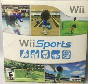 Nintendo Wii SPORTS Complete w/Disc & Manual Tennis Baseball Golf Boxing Bowling