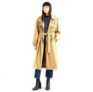 New-Levi-039-s-Womens-Full-Length-Kate-Trench-Khaki-Trenchcoat-Jacket-Coat-Sz-Medium