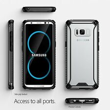 Poetic Affinity Slim Fit Anti-Slip Side Grip Bumper Case for Galaxy S8 Black