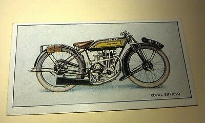 ROYAL ENFIELD  Motorcycle - Wills New Zealand Cigarette Card Issued 1926