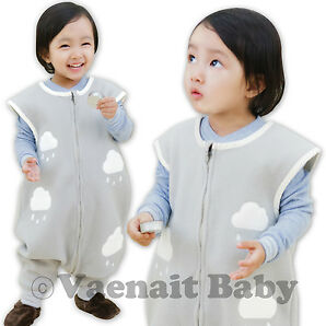 "NWT Newborn Baby Boy Girl Micro Fleece Blanket Sleepingbag Sleepsack""Gray Claud"""