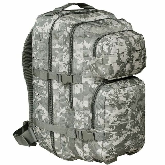 Mil-Tec 36L MOLLE Laser Cut Assault Pack US Armée Sac à Dos Militaire At-Digital