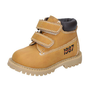 vestibilità classica 11216 760ae Dettagli su scarpe bambino ASSO 21 EU stivaletti giallo pelle BT323-21