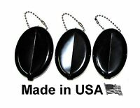 3 Rubber Squeeze Coin Holder Black Free Shipping
