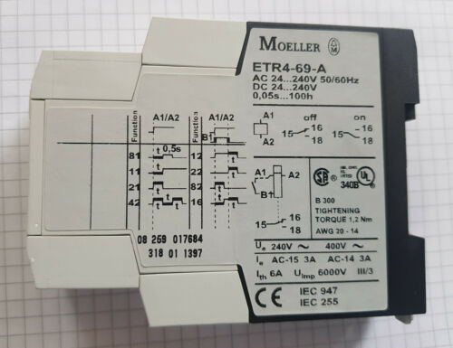 Details about  /Moeller Timing Relay ETR469A ETR4-69-A