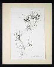 Max Schegulla 1918 Trachenberg / Lithographie, handsigniert / blühende Blumen
