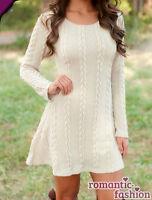 ♥Größe 34,36-38,40 oder 42 Longshirt Minikleid Tunika Pullover in Weiß+NEU+B593♥