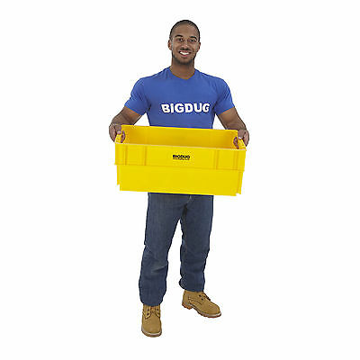 Euro Box Container Stackable Nestable 44 Litre Heavy Duty Storage Boxes Yellow
