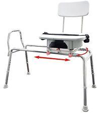 Snap-n-Save Sliding Shower Chair Bath transfer Bench w Cut Out Swivel Seat 77663