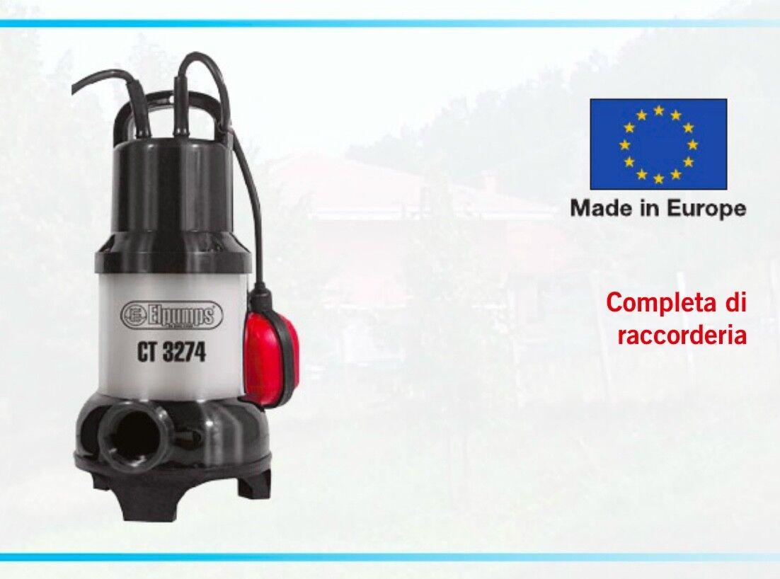 Pumpe unter Wasser Wasser Axt Pumpe 600w 7mt ELPUMPS CT 3274 schmutzig