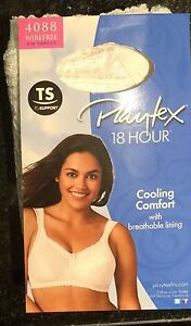 7ae2fa0c0c Woman Playtex Bra 18 Hour Lace Wirefree Cooling Comfort w  Lining 50 ...