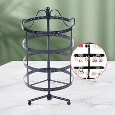 4 Layer 360 Rotate Earring Holder Stand Wrought Jewelry Organizer Display Rack