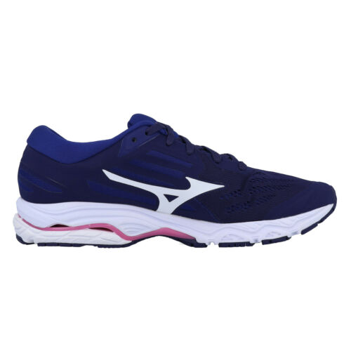 Mizuno Womens Wave Stream 2 Running Shoes Trainers Blue Sports Breathable