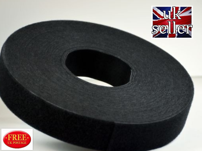 VELCRO® Hook and loop ONE-WRAP® double sided Strapping  1 metre x 107mm in white