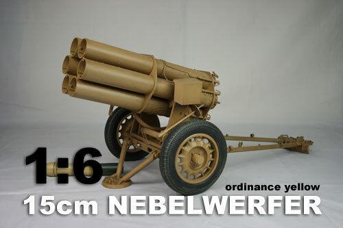 DID échelle 1//6 Deuxième Guerre Mondiale Allemand 15 cm NEBELWERFER Panzer jaune W60011Y