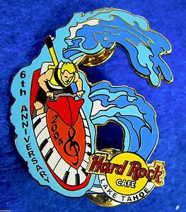 Lago-Tahoe-6TH-Aniversario-Rubia-Jet-Esqui-Rider-Piano-Llaves-Hard-Rock-Cafe-Pin