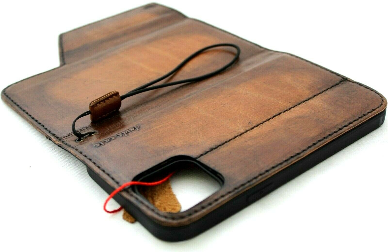 Image 61 - Genuine Leather Case For Apple iPhone 12 Pro Max Wallet Cover Book Hhandcrafted