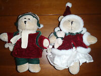 Starbucks Bearista Plush Bear Christmas Girl & Boy 42nd 43nd Edition 2005