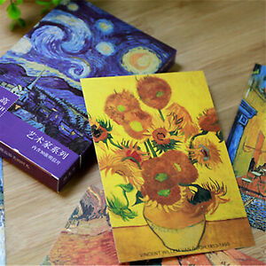 30pcs-Vintage-Van-Gogh-Famous-Painting-Postcards-Art-Posters-Wall-Decor-Cards