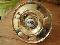 """LARGE BRASS BELL PUSH"" DOOR DOORBELL KNOBS KNOCKER HANDLES PLATES LETTER BOX"