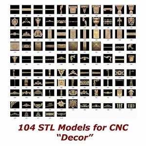 104-3d-STL-Models-034-Decor-Collection-034-for-CNC-relief-artcam-3d-printer-aspire
