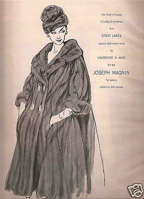 60's Betty Brader Illustrated Joseph Magnin Fashion Ad 1962
