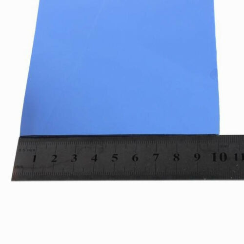 100x100x0.5mm  CPU VGA GPU Heatsink Silicone Compounds Thermal Pad Blue 0.5MM