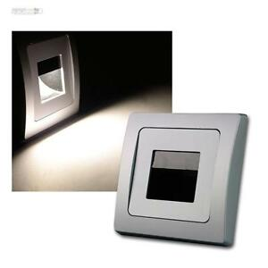 Delphi-LED-Recessed-Lighting-Cob-Silver-110lm-80x80mm-Wall-Light-Stairway