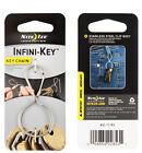 Nite Ize Infini-key Keychain Stainless Steel Key Ring W/belt Loop Clip Biner