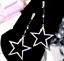 US-Seller-Betsey-Johnson-Silver-Crystal-Star-Dangle-Earrings-fashion-jewelry thumbnail 5