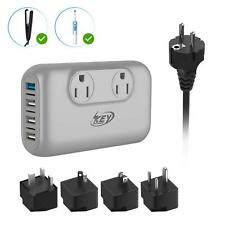 6 NEW Foreign Travel Voltage Power Converter Adapter 1600 Watts 220V to 110V US