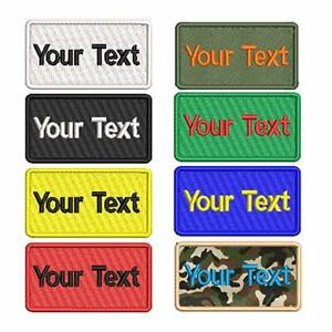 Custom Embroidery Name Patches Personalized Military Number Tag Work