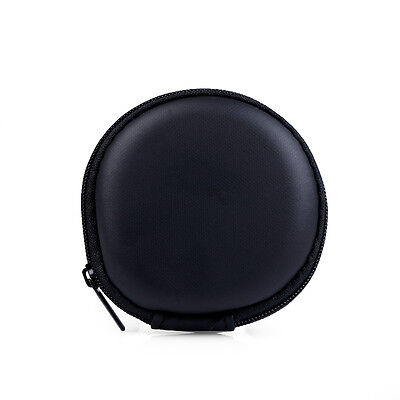 Unisex Round Key Coin Headset Headphone Earbud Wallet Zip  Purse Portable Bag Y3