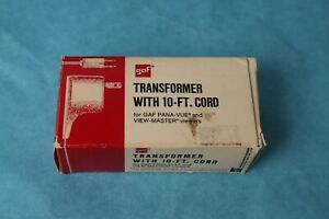 VINTAGE-DEADSTOCK-VIEW-MASTER-GAF-10-FT-TRANSFORMER-CORD-IN-ORIGINAL-BOX